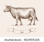 cow vector illustration.... | Shutterstock .eps vector #401905105