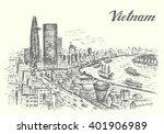 vietnam cho chi minh city... | Shutterstock .eps vector #401906989