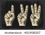 set of gestures  of hands...   Shutterstock .eps vector #401908207