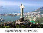 aerial view of christ the... | Shutterstock . vector #40191001