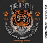tiger style tee graphic | Shutterstock .eps vector #401920555