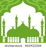 greeting card in arabic style....   Shutterstock .eps vector #401922334
