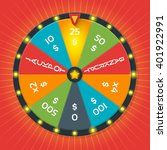 color lucky wheel template.... | Shutterstock .eps vector #401922991
