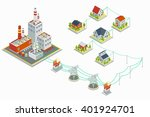 powerhouse and electric energy... | Shutterstock .eps vector #401924701