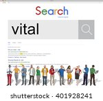 Small photo of Vital Vitality Live Critical Active Essential Important Concept
