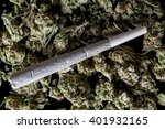 medical cannabis rolled joint... | Shutterstock . vector #401932165