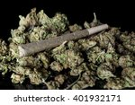 medical cannabis rolled joint... | Shutterstock . vector #401932171