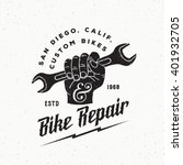 bike repair abstract vintage... | Shutterstock .eps vector #401932705