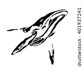 graphic image of a whale | Shutterstock .eps vector #401937241