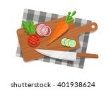 salad ingredients on cutting...   Shutterstock .eps vector #401938624