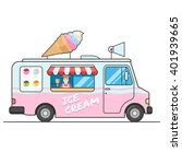 ice cream truck  side view.... | Shutterstock .eps vector #401939665