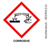 ghs05 hazard pictogram  ... | Shutterstock .eps vector #401941111