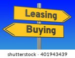 leasing or buying concept on... | Shutterstock . vector #401943439