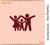 happy family icon in simple... | Shutterstock .eps vector #401946901