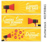 set of banners for your website ... | Shutterstock .eps vector #401950861