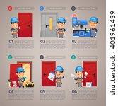 fireproof door production step... | Shutterstock .eps vector #401961439
