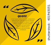 quote blank template  with... | Shutterstock .eps vector #401965051