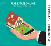 real estate online for buying... | Shutterstock .eps vector #401966689