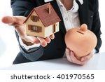 investment vs saving concept | Shutterstock . vector #401970565