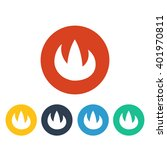 vector illustration of fire icon