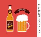 beer icon design   vector... | Shutterstock .eps vector #401972611