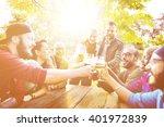diverse people friends hanging... | Shutterstock . vector #401972839