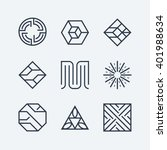 set of the linear design... | Shutterstock .eps vector #401988634