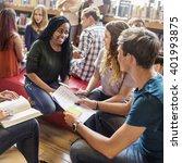 classmate classroom sharing... | Shutterstock . vector #401993875