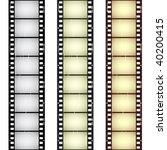 vector scratched seamless film... | Shutterstock .eps vector #40200415