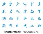 set of sport icons on a white... | Shutterstock .eps vector #402008971
