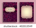 vintage invitation template.... | Shutterstock .eps vector #402013549