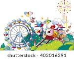 amusement park | Shutterstock .eps vector #402016291