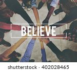 believe hope belief mind... | Shutterstock . vector #402028465