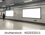 blank billboard at the subway... | Shutterstock . vector #402032011