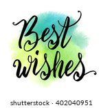 best wishes hand drawn... | Shutterstock .eps vector #402040951