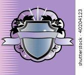heraldic  shield  with text... | Shutterstock .eps vector #40204123