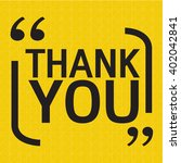 thank you lettering... | Shutterstock .eps vector #402042841