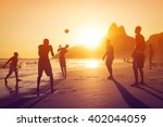 Ipanema Beach At Sunset In Rio...