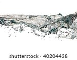 water surface isolated on white background - stock photo