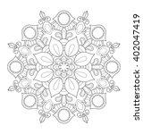 decorative mandala illustration ... | Shutterstock .eps vector #402047419