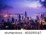 hong kong from the victoria peak | Shutterstock . vector #402050167