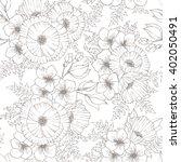vintage flower seamless pattern ... | Shutterstock .eps vector #402050491