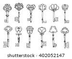 vintage sketches of medieval... | Shutterstock .eps vector #402052147