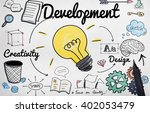 development improvement vision... | Shutterstock . vector #402053479