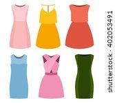 set of six trendy women's... | Shutterstock .eps vector #402053491