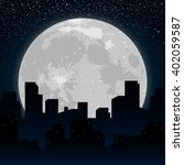 moon on the background... | Shutterstock .eps vector #402059587