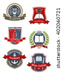 education heraldic emblems and... | Shutterstock .eps vector #402060721