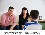parents berating their son... | Shutterstock . vector #402060979