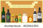 flat bottles collection. vector ... | Shutterstock .eps vector #402061501