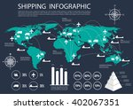 international logistics ... | Shutterstock .eps vector #402067351